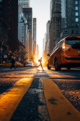 Golden Road (Airicsson) Tags: street urban sunset nyc newyork city manhattan cityscape silhouette instantdecisif golden taxi america usa