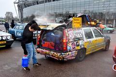 Start Carbage Run winter 2019 - Kopenhagen (FaceMePLS) Tags: kopenhagen copenhagen denemarken denmark scandinavië facemepls nikond5500 rally car voiture pkw wagen voertuig