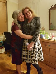 Carolyn And Sue At The New Year's Eve Party (Joe Shlabotnik) Tags: carolynj blurry sue cameraphone december2018 galaxys9 2018