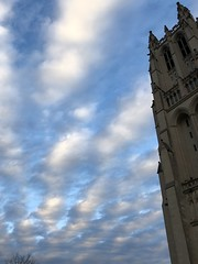 Christmas lessons and carols at the National Cathedral (garden beth) Tags: washingtonnationalcathedral nationalcathedral cathedrals buildings christmas sky clouds