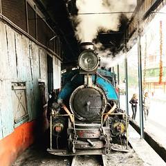 A Class B steam locomotive simmers in Kurseong shed on the Darjeeling Himalayan Railway, India. (Chuffer Haynes) Tags: class b 040 saddle tank north british company glasgow darjeeling himalayan railway india kurseong locomotive steam