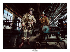 The Interrogation (Eddy Summers) Tags: pentaxkp kpcaptures kp sigma sigma1020 portrait portraitphotography rni rnifilm filmsimulation reallyniceimages flash flashfired cactusrf60x cactusv6ii agfacolor agfacolor50s war cosplay soldier ironfest costume reenactment