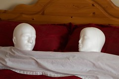 Two Heads (Bruce82) Tags: 119picturesin2019 canoneos5dmarkiii ef24105mmf4lisusm heads polystyrene bed sleeping people 104 104of119 timeforbed smile