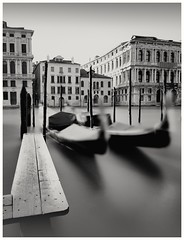 Grand Canal (Andy J Newman) Tags: gondola gondolas italy monochrome venice blackandwhite d810 grandcanal longexposure nikon silverefex vulturelabs provinceofvenice it