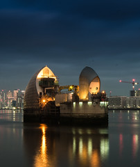 The Barrier (5 of 5) (selvagedavid38) Tags: london thames river barrier reflection water dam flood