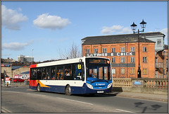 Stagecoach 37051, South Bridge (Jason 87030) Tags: stagecoach camphill 3 e200 midlands south bridge roadside crick latimer store hosue warehouse iconic histoic architecture bus enviro transpirt col uk canon eos red white blue orange sunny march 2019 shot shoot session route timetable service lights lamps