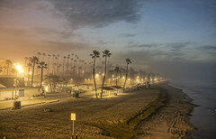 Sunrise Fog 9-1-29-19 (rod1691) Tags: fog oceanside california strand beach sunrise sand surf lowtide palmtrees ocean surfcanon50d