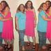20180611 2153 - fashion show - Beth & Clio - teal shirt, blue pants, pink dress - 18532169fl-52.46-53.26c (triptych)