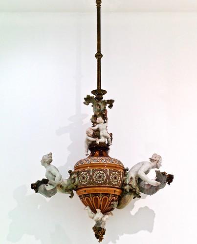 """Julio Guedes""Ceiling Light (1898) - Rafael Bordalo Pinheiro (1846 - 1905)"