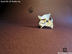 Second Life A5 Papillon dog - Barth Dunkan. (Magic Fingaz) Tags: anjing barthdunkan chien chó dog hond hund köpek origami paperfolding perro pies ecorigami origamidog собака 犬 狗