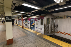 QATAR Airways wrapped on Time Square Shuttle Subway Car (Camera-junkie) Tags: ads trains trainsphotography transportation trainphotography traintracks photography nikon nikond7100 tokinaatx1120mmf28prodx newyorkcity mtasubway nycsubway metropolitantransitauthority grandcentralstation