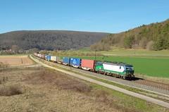 TX Logistik 193 283, Harrbach (Sander Brands) Tags: trein treni train treno trenuri trenuro traktion ell txl tx logistik vectron strecke siemens spotten shuttle sun sky maintal maindal nikon d7000