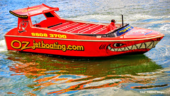 Oz Jetboating Boat in Circular Quay, Sydney Harbour, NSW (Black Diamond Images) Tags: ozjetboating redjetboat jetboatfun sydneyjetboating jetboatingsydney sydneyharbourjetboating jetboat circularquay sydneyharbour nsw sydney vehicle boat outdoor