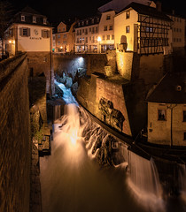 Saarburg waterfalls (Koelman2008) Tags: waterfall water fall wasser wasserfall germany deutschland saarburg rheinland pflalz hdr panorama stream longexposure tripod scenery landscape photography nature architecture buildings village town river saar travel travelphotography