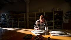 Process in progress (Mika Lehtinen) Tags: ceramics clay studio working sunlight spring calm peace inge handmade work sun ray light 14mm nikon d750 inside portrait woman