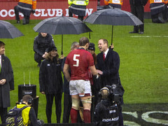 Welsh team captain receives  Trophy 6 nations grand slam (mds63ie) Tags: rugbyunion stadium 2019 princewilliam akinwynjones wales rugby 6nations trophy grandslam principality milleniumstadium cardiff