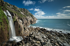 Porthguarnon (DanRansley) Tags: atlantic britain cornwall danransley danransleynet england gb greatbritain kernow photography porthguarnon uk unitedkingdom westpenwith beach coast coastline conservation landscape nature ocean rock sea sky water waterfall