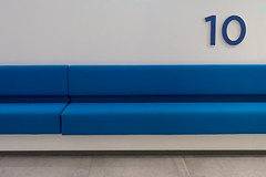 Bench 10 (Jan van der Wolf) Tags: map192405v 10 ten bench bank number nummers blue blauw almelo