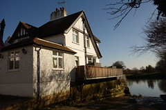 River Abode (Spenny Manor) Tags: river dwelling home tidemark tide jetty house shelter abode