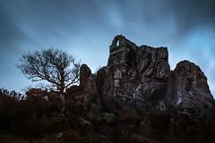 The Rock (Andrew Hocking Photography) Tags: landscape cornwall canon leefilters rocherock kernow folly longexposure grayskull spooky eerie rock landmark gb uk rocky winter tree gorse bluehour dawn