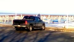 Pickup truck at marina - HTT (Maenette1) Tags: pickuptruck black greatlakesmemorialmarina downtown menominee uppermichigan happytruckthursday flicker365