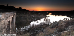 ledesma puesta de sol (K@moeiras) Tags: kamo ledesma salamanca españa tormes rio puente atardecer