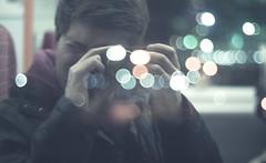Pop, Fizz (ross.colgan) Tags: me selfie camera sparkles glitter bubbles train window reflection sony nex nex6 uk pentaxm smc f14 50mm colours dof processing bokeh self