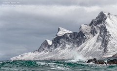 Winter Waves (Darren Barnes Photography) Tags: winterwaves winter waves atlantic ocean atlanticocean 2017 lofoten islands lofotenislands norway dwoodphotography dwoodphotographycom seascape green teal snow mountain mountains wave