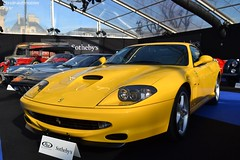 Ferrari 550 M WSR 1999 (Monde-Auto Passion Photos) Tags: voiture vehicule auto automobile ferrari 550 550m wsr world speed record rare rareté coupé jaune yellow sportive supercar vente enchère sothebys france paris vauban