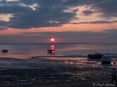 _1200050 (Paul_sk) Tags: winter sunset shoeburyness essex river thames beach mud boats clouds sun sky southendonsea