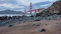 Rock-Strewn Shore and Golden Gate (Matt McLean) Tags: architecture bayarea beach bridge california coast goldengate rocks sanfrancisco shore