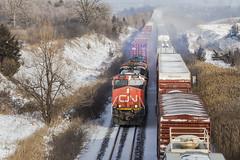 CN 121 (Nicoli OZ Mathews) Tags: cnrail haltonsub toronto ontario canada railroad railway snow beautiful winter canon canoncanada