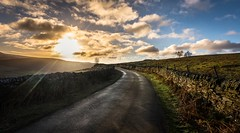 Sunrise (Phil-Gregory) Tags: peakdistrictderbyshire tokina1120mmatx tokina wideangle ultrawide scenicsnotjustlandscapes landscapephotography landscapes nikon d7200 road bend sunrise colours cloudscape clouds