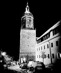 St. Annen Kirche (M&K Photographie) Tags: schwarzweis iphone winter schnee deutschland erzgebirge stannenkirche kirche annabergbuchholz mkphotographie