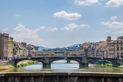 Bridges in Firenze (jansterino) Tags: firenze florence italia italy nikon nikkor summer bridge europe blue sky river arno d3300
