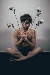 Corps de Fleurs | 2 (_ALBX_) Tags: indoor studio portrait selfportrait man canon canon80d 30mm albxphoto sigma albx art conceptual