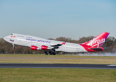 """Virgin Atlantic """"Forever Young"""" (ukmjk) Tags: virgin atlantic b747400 forever young vros boeing nikon tamron d500 16300 vc manchester airport"""