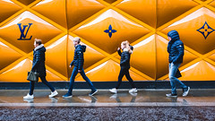 Pseudo Abbey Road (Sean Batten) Tags: london england unitedkingdom gb bondstreet streetphotography street ysl people candid walking family fuji x100f fujifilm city urban