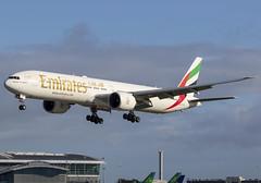 Emirates 777-300(ER) A6-EGV (birrlad) Tags: dublin dub international airport ireland aircraft aviation airplane airplanes airline airliner airways airlines arriving approach arrival finals landing runway emirates boeing b777 b773 777 777300er 77731her a6egv