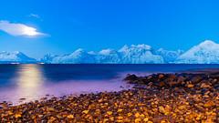 Lyngen Alps (pboolkah) Tags: canon canon5d canon5dmkiv norway lyngenalps mountain water pebbles