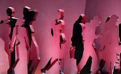 Shanghai - Street Art (cnmark) Tags: shanghai china puxi nanjingwestroad qinghairoad street art steel plate pedestrians silhouettes pink coloured 中国 上海 浦西 南京西路 青海路 ©allrightsreserved
