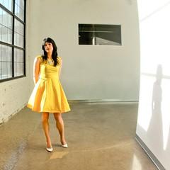 Yellow Dress 5 (Hannah McKnight) Tags: tgirl transgender transgirl model crossdress crossdresser stilettos