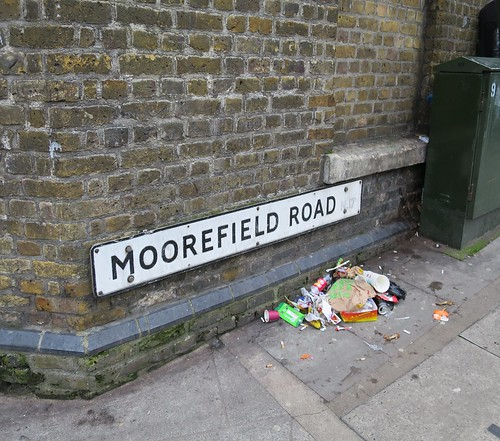 Street Nameplate - north end of Moorefield Road
