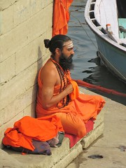 varanasi 2019 (gerben more) Tags: saddhu holyman beard prayer meditation ganges ganga river varanasi benares india man tattoo