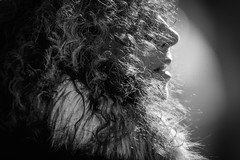 the lips (Gerrit-Jan Visser) Tags: amsterdam blackandwhite bnw hair lips portrait streetphotography curl crimps