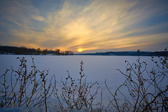Winter Sunset (AncasterZ) Tags: cootesparadise hamilton sunset zeissloxia21mmf28