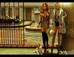 LOOK-983-A casual moment with my sister (Julia Pariz) Tags: thearcade uber addams blueberry catwa gos imitie kraftwork lelutka mutresse scandalize serenitystyle tableauv tram
