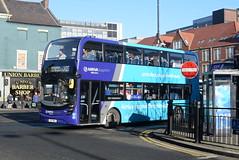 ANE 7545 @ Newcastle-upon-Tyne Eldon Square/Haymarket bus station (ianjpoole) Tags: arriva north east alexander dennis enviro 400mmc yx17nnu 7545 working sapphire route x22 newcastleupontyne haymarket bus station ashington