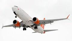 Boeing 737 MAX 8 (dejuczi) Tags: boeing737max8 torontopearson sunwingairlines flightphoto
