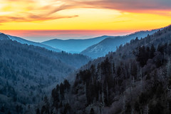 Mountain Sunset (Ronda Hamm) Tags: 2470mm 7dii landscape nationalpark smokymountainsnationalpark tennessee canon layers mountains outdoors sky sunset trees